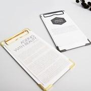 골드&블랙 클립보드 메뉴판