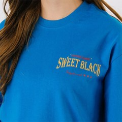Sweet Black Graphic T-Shirts_Cobalt Blue
