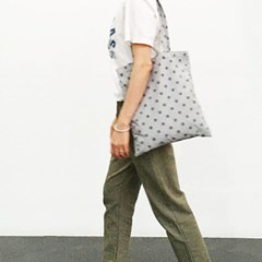 gray dotted light cotton bag