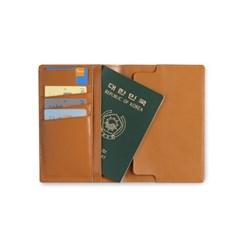 Note & Travel Cover Case (노트, 여권, 카드 수납 케이스)_Tan