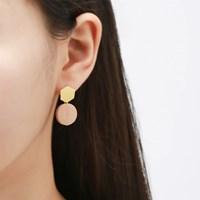 옐로우 우드 심플 귀걸이