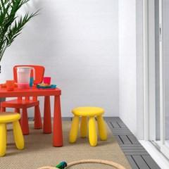 이케아 MAMMUT 사각테이블(레드)/어린이책상