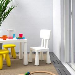 이케아 MAMMUT 사각테이블(화이트)/어린이책상