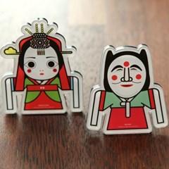 한국 탈춤 자석