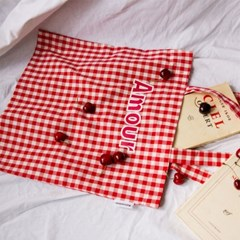 Amour bag (red-check)