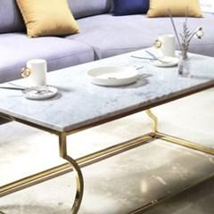 화이트 마블 천연 대리석 갤럭시 실비아 화이트 거실 쇼파 테이블