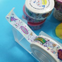 Nom-nom School Masking Tape_White