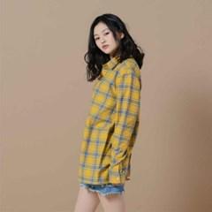 체크 셔츠 옐로우 R1-016