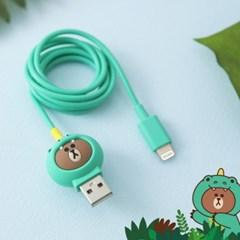 정글브라운 충전 & 테이터 케이블 애플인증 8핀 타입C 케이블