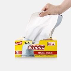 GLAD 분리수거백 22입 쓰레기봉투 빅트래시백 재활용