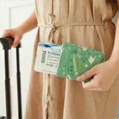 윌로우 패턴 여권케이스
