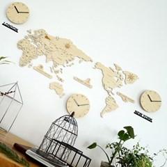 실크로드 세계지도 벽시계 (중)