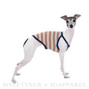 Toy sleeveless / orange&blue