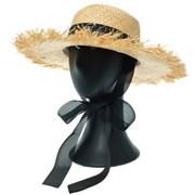 [더그레이]NKP14.밀짚 리본끈 여성 여름 비치 모자