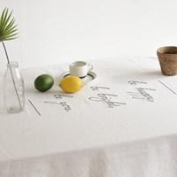 [포홈]린넨자수 테이블 커버 (식탁보/테이블 장식)_(1282603)
