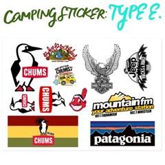 캐리어, 캠핑소품 리폼 스티커 type: E