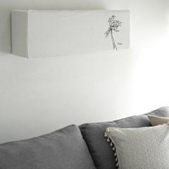 팜트리 자수 벽걸이 에어컨커버