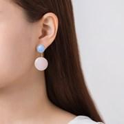 컬러 동그라미 투웨이 귀걸이