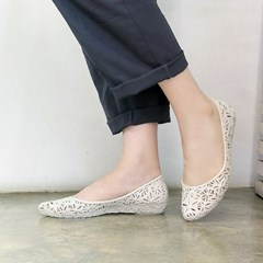 kami et muse Flower punching mini wedge jelly flat_KM18s335
