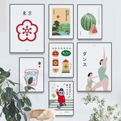 유니크 일본 인테리어 디자인 포스터 M 20종 모음전 vol.3