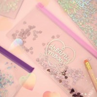 Pinky holic clear pouch_P_4.Glitter_ Shell