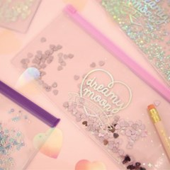 Pinky holic clear pouch_P_2.hologram violet