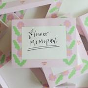 MEMO PAD - flower