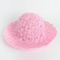 P6800 핑크 밀짚 벙거지