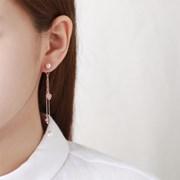 펄 핑크 포하트 드롭 귀걸이