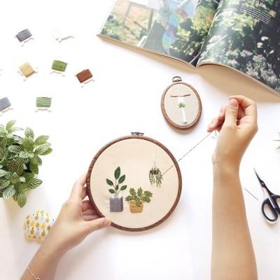 hobbyful 프랑스자수 식물 액자 만들기 온라인 취미 클래스