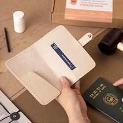 hobbyful 가죽 여권케이스 만들기(크림) 온라인 취미 클래스 키트