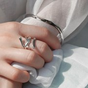 Shimmer Summer 1 Line Ring