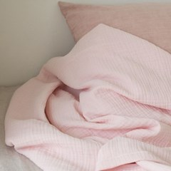 밀크 3중 거즈 홑이불_baby pink