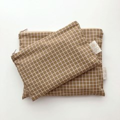 line and line pouch LARGE BROWN