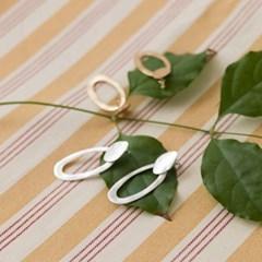 antique mood circle earring