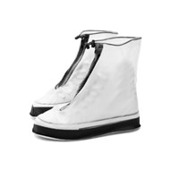 장마철 휴대용 PVC 방수 비닐장화 슈즈 신발 레인커버_(840845)