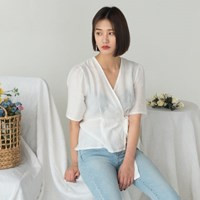 v-neck wrap blouse