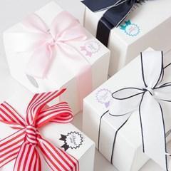 [선물박스+스티커+쇼핑백]남녀공용 베이직 골지 바비 삭스 4개입