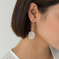 nacre circle earring