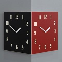 모던 레트로 코너 양면시계