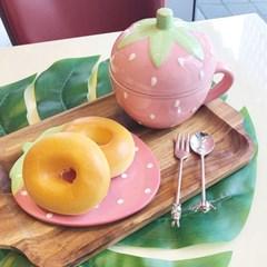 핑크 스트로베리 접시