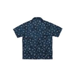 [Matt And Mel x M.Nii] Hand Dyed Aloha Shirts_Navy