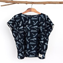 [Kids Poncho] Pado - Black