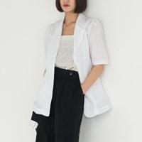 linen puff line jacket