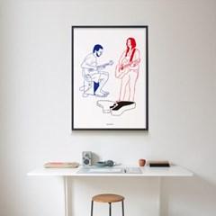 유니크 인테리어 디자인 포스터 M 버스킹
