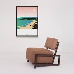유니크 인테리어 디자인 포스터 M 제주도 해변