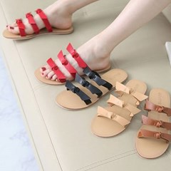 kami et muse Tied ribbon flat slippers_KM18s362