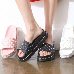 kami et muse 4.5cm tall up stud slippers_KM18s359