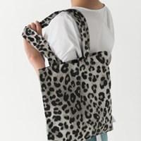 leopard cotton eco bag