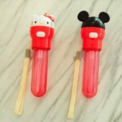 미키마우스&키티 빨대 캡 스트로우 휴대 케이스